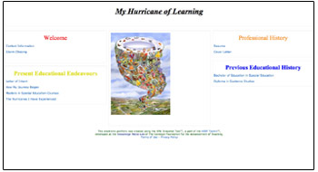 Hurricane of learning snapshot